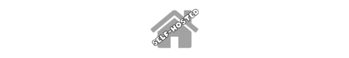 Self-hosted blog badge